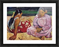 Tahitian Women on Beach by Gauguin Picture Frame print