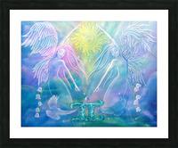 Gemini Angels Picture Frame print