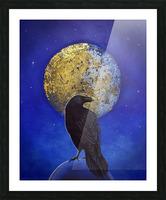 Raven Shine Picture Frame print
