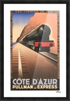 Cote D'Azur Pullman Express Picture Frame print