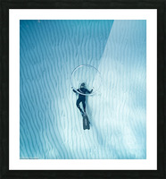 diver 3 Picture Frame print
