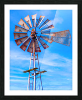 Uncle Sams Windmill Picture Frame print