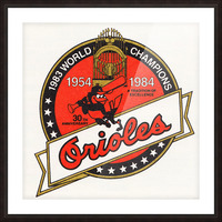 1983 Baltimore Orioles World Champions Art Picture Frame print