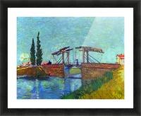 The Anglois Bridge at Arles (The drawbridge) by Van Gogh Picture Frame print