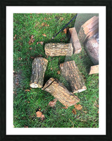 wood for fire Picture Frame print