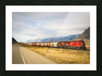 Great Canadian Railroad Picture Frame print