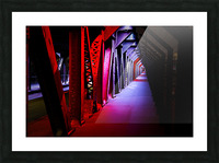 Tunnel of Red Rain Picture Frame print