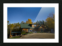 Nightscape Over Log Cabin Picture Frame print