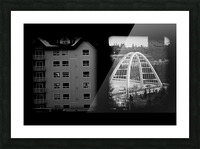 Building and Bridge Picture Frame print
