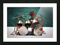 Nuthead on the Drums Picture Frame print