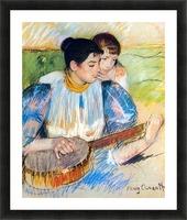 The banjo lesson by Cassatt Picture Frame print