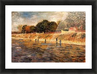 The Banks of the Seine by Van Gogh Picture Frame print