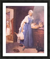 The bread by Jean Chardin Picture Frame print