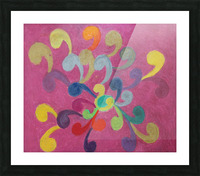 Pink Abstract Picture Frame print