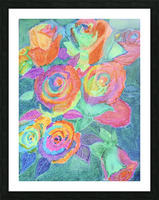 Colorful flowers Picture Frame print