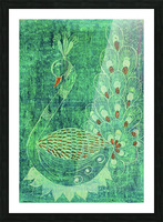Peacock Picture Frame print