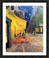 The Cafe Terrace on the Place du Forum Arles at Night by Van Gogh Picture Frame print