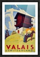 Valais Switzerland Picture Frame print