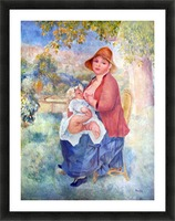 The child at the chest maternity by Renoir Picture Frame print