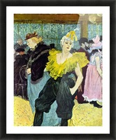 The clowness by Toulouse-Lautrec Picture Frame print