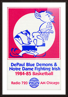 1984 DePaul Notre Dame Basketball WGN Poster Picture Frame print
