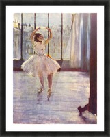 The dancer at the photographer by Degas Picture Frame print