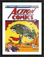 Action Comics Picture Frame print