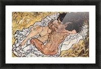 The Embrace by Schiele Picture Frame print