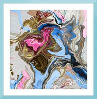 bluepour Picture Frame print