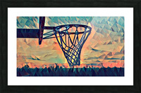 basketball hoop sunset Picture Frame print