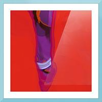 Violet Shape Picture Frame print