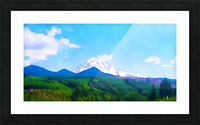 mt ranier clouds Picture Frame print