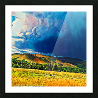 impending storm Picture Frame print