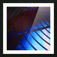 abstract blue curved lines Picture Frame print