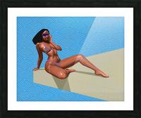 Sunbather Picture Frame print
