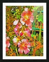 Penstemon Pop Art Style Picture Frame print