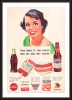 Vintage St. Louis Sportsman Park Concessions Ad Picture Frame print