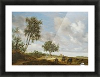Landscape with a Hunting Party, 1648 Picture Frame print