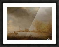 River Scene near Deventer Picture Frame print