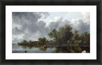 River Scene Picture Frame print