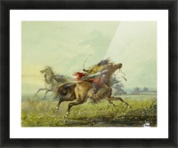 Dodging an Arrow Picture Frame print