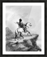 Crow Indian on the Lookout Picture Frame print