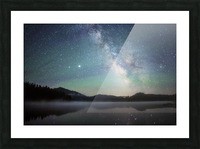 Stockade Lake and The Milky Way Picture Frame print