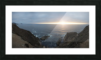 Pacific Coast Sunset Picture Frame print