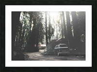 Big Sur Camping Picture Frame print