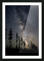 Yellowstone Milky Way Picture Frame print