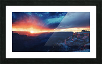 The Grandest Sunset Picture Frame print