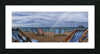 Deckchairs In Brighton Picture Frame print
