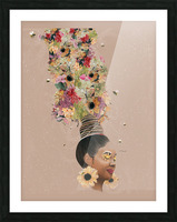 Flower Power Picture Frame print