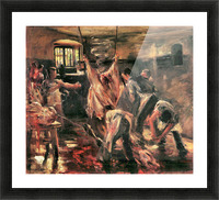 Slaughterhouse by Lovis Corinth Picture Frame print